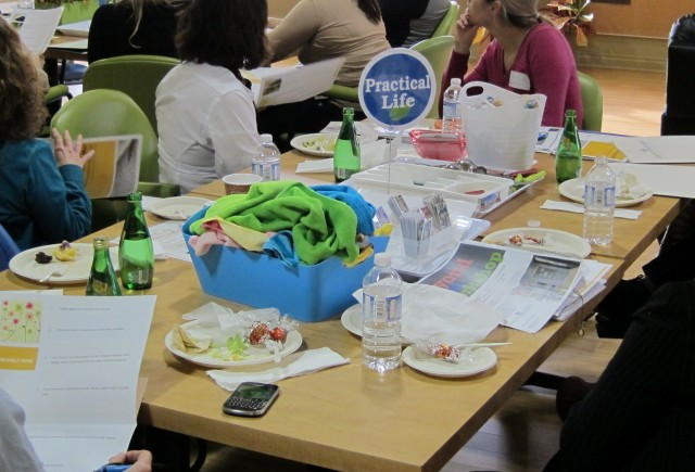 Practical Life workshop table at Dementia Support
